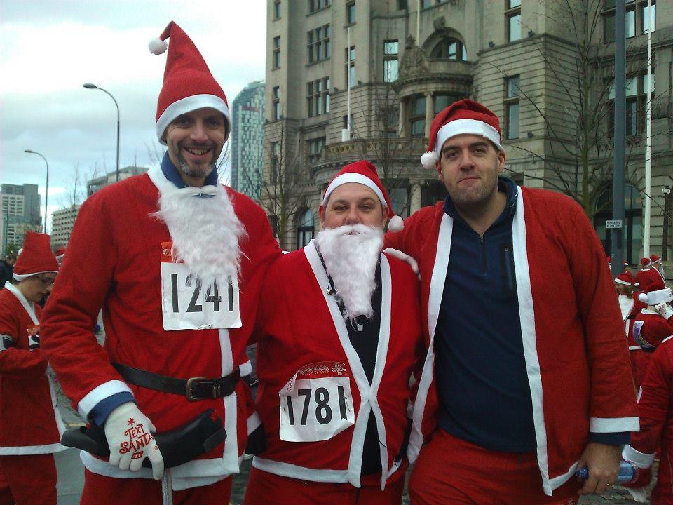 Santa Dash in Liverpool