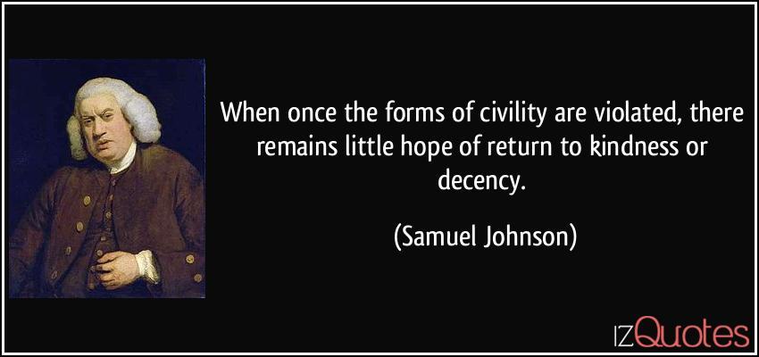Civility by Samuel Johnson