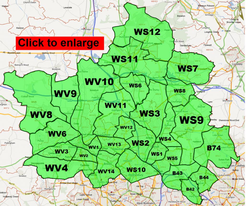 Wolverhampton postcode areas