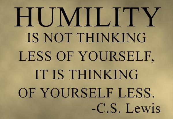 Humility - CS Lewis