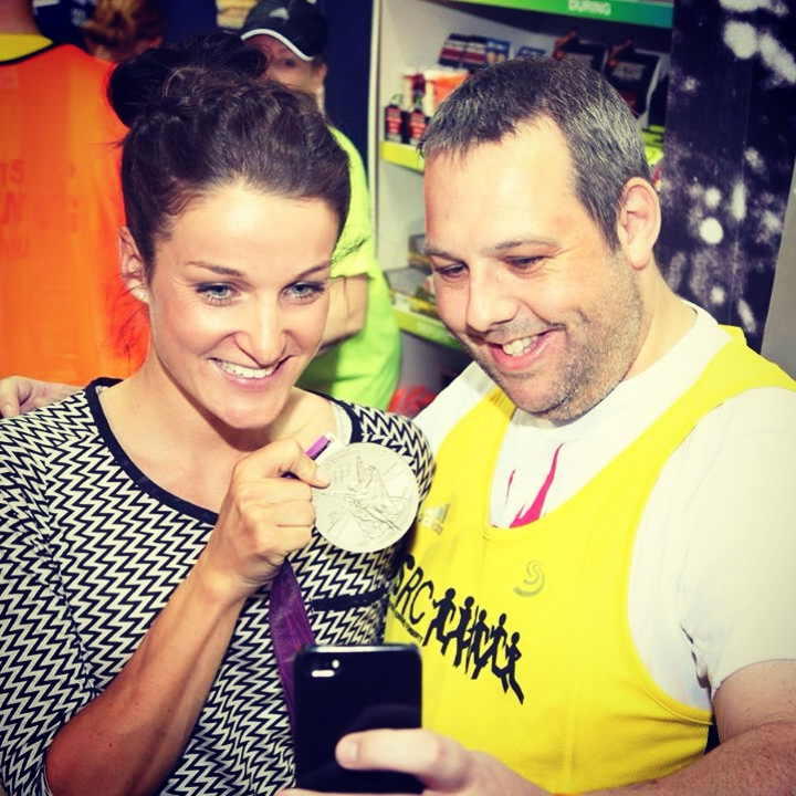 Lizzie Armistead visited SRC in April 2014 with her Olympic medal