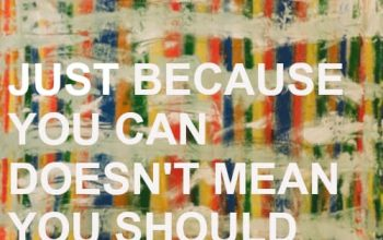 Just because you can...
